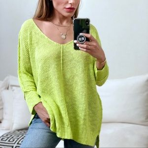 Sweaters - 🆕 SWIFT 2.0 Hi-Lo Folded Cuffs Sweater - LIME